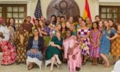 Chargé d'Affaires Melinda Tabler-Stone, Deputy Minister of Health Tina Mensah and Peace Corps Ghana Country Director Carla Ellis with the newly sworn-in Peace Corps Volunteers