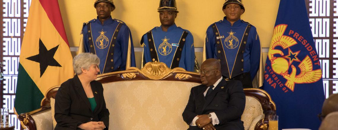 Ambassador Stephanie S. Sullivan Presents Credentials to President Akufo-Addo