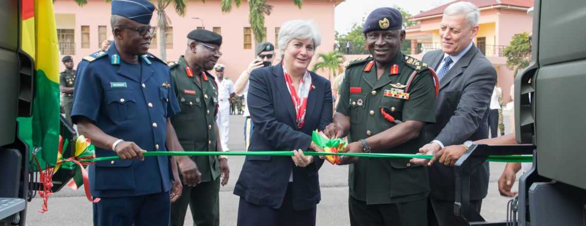 Ambassador Sullivan hands over cargo and personnel carriers to Ghana Armed Forces