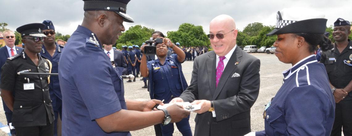 Ambassador Jackson Hands over Training Equipment to Ghana Police Service