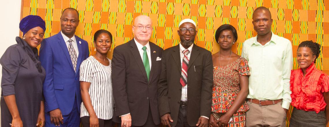 Ambassador Jackson Welcomes Back Ghanaian Teachers from ILEP/TEA Fellowship