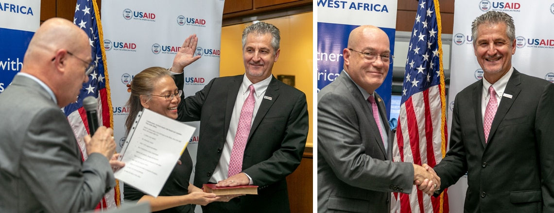 Amb Jackson's Remarks at USAID West Africa Mission Director Swearing-in Ceremony