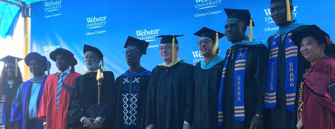 Ambassador Jackson Congratulates Webster University Graduates